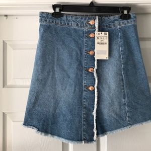 ZARA BASIC Z1975 DENIM SKIRT